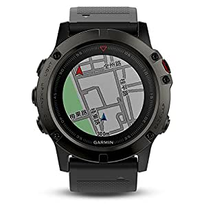 GARMIN佳明fenix5X DLC蓝宝石镜面国行中文版多功能光电心率北斗GPS三星定位中国大陆地图导航手表运动户外登山骑行游泳跑步智能腕表(1.2寸51mm)