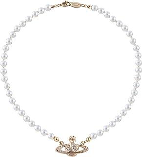 Vivienne Westwood 金土星珍珠项链,带特殊包装盒和纸袋