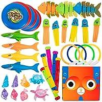 学习玩具箱儿童泳池玩具 20 个高级沉水泳池环潜水玩具鼓励爱泳池玩具 ASTM 和 CPC 认证 - 儿童* - * ABS 和橡胶沉水漂浮