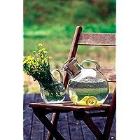 KALALOU CV5608 SMALL GLASS TILTED PITCHER