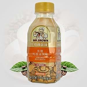 台湾伯朗咖啡 3合1焦糖玛琪朵风味咖啡饮料 330ml/瓶装