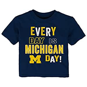Gen 2 NCAA 密歇根大学狼獾队幼儿日常短袖 T 恤,4T,深*蓝