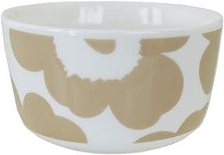 Marimekko 碗 9.5cm 250ml 餐具 深盆 UNIKKO 罂粟花 白色×米色 70400 180 [平行进口商品]