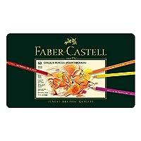 Faber-Castell 辉柏嘉 艺术家系列 油性彩色铅笔 大师级 绿铁盒 经典油性 60色 110060