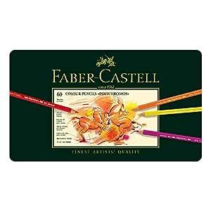Faber-Castell 辉柏嘉 艺术家系列 油性彩色铅笔 大师级 绿铁盒 经典油性 60支-金属盒装