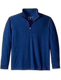 White Sierra 男式 Ridge 条纹 1/4 拉链上衣