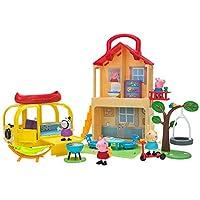 Peppa Pig Pop n' Playhouse and Play n' Go 露营车组合套装,包括 4 个角色玩具公仔和玩具套装配件 - 儿童玩具 - 亚马逊*销售