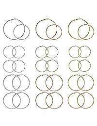 72 件圆形串珠耳环环用于珠宝制作,耳环寻找圆形开放式串珠环吊坠耳环适用于 DIY 工艺耳环首饰制作耳环(3 种颜色,2 种尺寸)