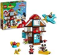 LEGO 10889 DUPLO 迪士尼米奇度假屋玩具,适合 2 岁幼儿与米老鼠、米妮、咬和普鲁托人偶