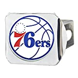 FANMATS NBA Philadelphia 76 人队彩色挂钩 - 铬色,球队颜色,均码