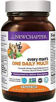 New Chapter 男士复合维生素,每个人每天一粒,用硒+ B维生素+维生素D3发酵-92粒(包装可能有所不同)