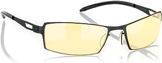 Gunnar Optiks G0005-C001Z SheaDog 全框符合人體工程學的高級電腦眼鏡,帶耳機兼容和琥珀色鏡片色調,縞瑪瑙鏡框飾面