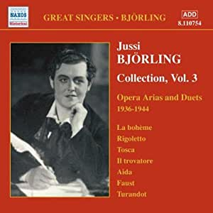 进口CD:于塞•比约林演唱的歌剧咏叹调和二重唱录音(1936-1944年录音) Bjorling,Jussi:Opera Arias and Duets(1936-1944)(CD)8.110754