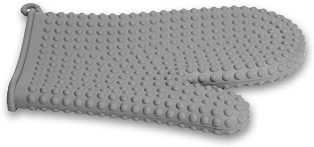 Topenca Supplies 烤箱耐热硅胶手套 灰色 Glove TS-91020