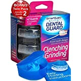 SmartGuard 精英牙齿护套 2 只装:免费赠送 - 旅行护套 - TMJ *专为咬牙和研磨而设计 - 勃起夹齿器提供缓解效果