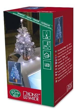 Konstsmide USB 金属片树,银色,带 20 个白色 LED 白色 1270-200