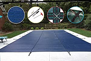 Water Warden Pool Safety Cover 蓝色 20ft x 50ft