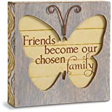 Pavilion Gift Company Simple Spirits 41085 Friend Butterfly Plaque,11.43 cm