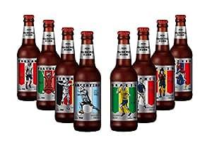 莱宝精酿魔督酒花皮尔森黄啤酒-世界杯330ML*6(瓶标随机发)