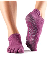 ToeSox Women's Low Rise Full Toe Grip Non-Slip for Ballet, Yoga, Pilates, Barre Toe Socks
