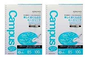 Kokuyo Campus Todai 系列预点散叶纸适用于活页夹- B5(17.9cm X 24.8cm)- 6Mm 规则 - 36线 X 200张 - 26 孔 1包