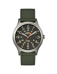 Timex 天美时 中性TW4B13900 Expedition Scout 36毫米尼龙表带手表,绿色/黑色