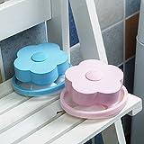 【洗衣机除毛器】清洁过滤网袋 漂浮毛球 毛发去毛 球吸毛球 (梅花形红色+梅花形蓝色)