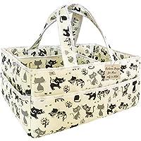 尿布袋收纳袋新生儿男孩 - 超大容量收纳袋,便携育儿收纳篮婴儿必需品和新生儿婴儿用品。 男女宝宝派对礼物 灰色
