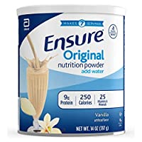 Ensure 雅培安素 成人蛋白質粉營養粉,代餐,香草味,14盎司(397g)6罐裝