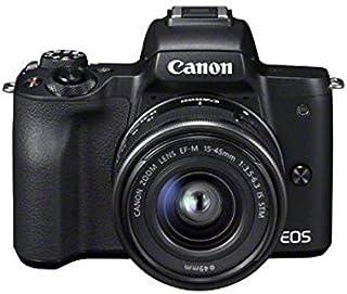 Canon 佳能 EOS M50 紧凑型系统相机和EF-M 15-45 mm f / 3.5-6.3 IS STM镜头 - 黑色