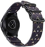 Fintie 適用于 Galaxy 手表 42mm / 齒輪運動表帶,20 毫米軟尼龍替換表帶,可調節封口,適用于三星 Galaxy 手表 42mm / Gear Sport/Gear S2 經典智能手表 Bumble