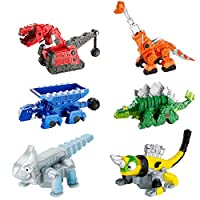 Mattel Games 合金车模型 恐龙玩具车 Dinotrux Bundle - Ty Rux,Garby,Ton-Ton,Skya,Revvit和Ace Die-Cast Vehicles