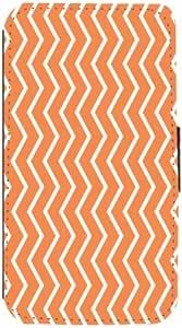 Rikki Knight Autumn Orange Zig Zag Stripes Flip Wallet Case with Magnetic Flap for Samsung Galaxy S3