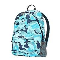 Delsey法国大使 时尚迷彩花纹背包 13英寸电脑包 容纳10英寸PAD 浅蓝色双肩背包
