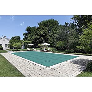 Water Warden Pool Safety Cover Solid Green 20 by 42-Feet Pool