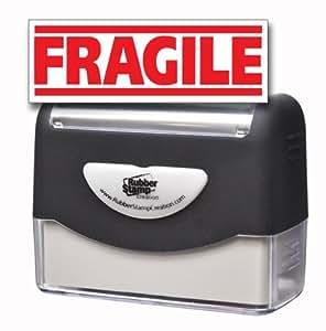 FRAGILE (C) Pre-inked Stamp - Red Ink (Large)