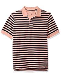 Nautica 男式经典短袖条纹 POLO 衫