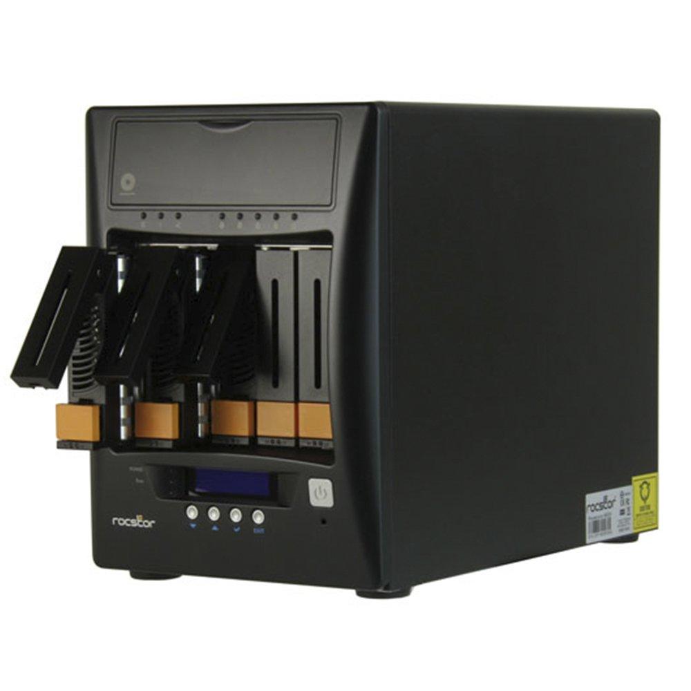 Rocstor Rocsecure Ne52暗号化NAS AES-256 RAID 20TB 7200 RPM 、黒(E628D7-01)