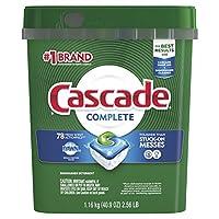 Cascade Complete ActionPacs洗碗机*洗涤剂,清新香味,78个