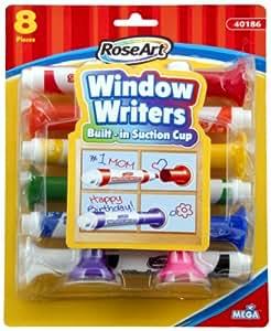 RoseArt 窗口书写笔,每包 8 个记号笔,各种颜色 (CYB56) 1包 多种颜色