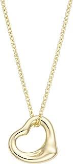 [蒂芙尼] TIFFANY 18KYG 黄金 艾尔莎·柏瑞蒂 开放 心形 吊坠 项链 迷你 25152328