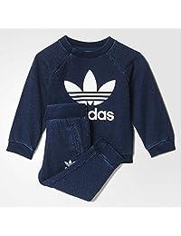 adidas Originals 阿迪达斯三叶草 中性童 套装 S95948 海军