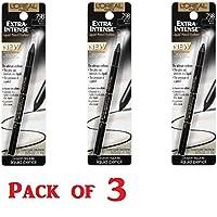 L'Oreal Extra-Intense Liquid Pencil Eyeliner, Black [798] 0.03 oz 3片装