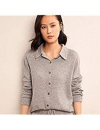 唐岚 季衬衫袖羊毛衫方领纯色毛衣女士单排扣保暖羊绒衫开衫