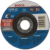 Bosch CG27M450 4-1/2 英寸。 3/32 英寸。 2.22 cm Arbor Type 27 24 砂光/金属切割磨料轮