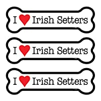 (SJT25407) Irish Setters 3 包 5.08 cm x 17.78 cm 骨头形状汽车磁铁