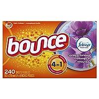 bounce 含Febreze香薰弹簧和更新型织物柔软剂香衣纸 烘干机用 240张