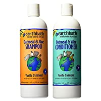 Earthbath 猫咪香草和杏仁*包 - (1)每个:燕麦和芦荟洗发水和护发素,16 盎司