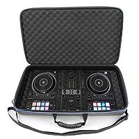 CASEMATIX DJ 控制器旅行箱兼容 Hercules Inpulse 500 - 硬壳 DJ 搅拌机手提箱带肩带和减震泡沫,兼容 Hercules DJControl Inpulse 500