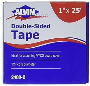 """Alvin 双面胶带 1"""" x 25ft 1 in. x 25 ft. Roll 多色"""